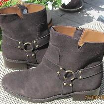 Donald Pliner Bela Espresso Suede Ring Harness Ankle Boot Shoe.  8.5 M Photo