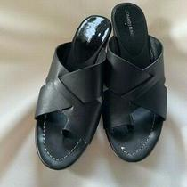 Donald Pliner Black Leather Women's Sandals Photo