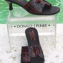 Donald Pliner Couture 285 Tortoise Patent Leather Shoe Nib 6.5 Toe Ring Photo