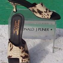 Donald Pliner Couture 315 Python Patent Leather Shoe Nib Toe Ring Sandal 5.5 Photo
