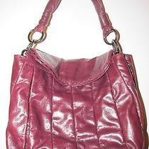 Donald Pliner  Genuine Leather  Mahogany  Satchel  Purse  Euc Photo