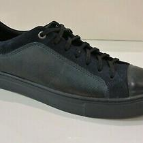 Donald Pliner Men's Berkeley 43 Suede/leather Fashion Sneakers in Navy Size 11.5 Photo