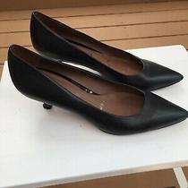 Donald Pliner Rome Size 6 Black Leather Strobel Flex Kitten Heels Womens Shoes Photo