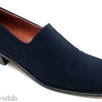 Donald Pliner Size 7 Medium Navy Blue Microfiber Loafers or Shoes Photo