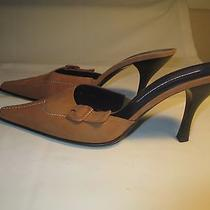 Donald Pliner  Size 8.5  Tan Suede Pointed Toe Heels  New Without Box Photo