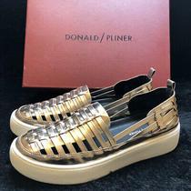 Donald Pliner Woven Taupe Mirror Metallic Slip on Sneaker Sz 8.5m Cierra3838 Photo