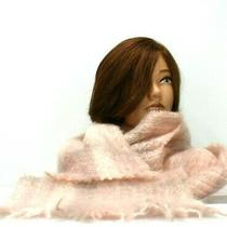 Donegal Designs Mohair Wool Scarf Blush Pink Ireland Beautiful Fall Winter Long Photo