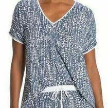 Donna Karan 2pc Sleepwear v Neck Navy Print Short Sleeve Set Size Plus 3x Nwt Photo
