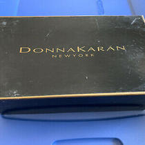 Donna Karan Dark Navy Leather Flats 10m C99sale Photo