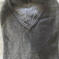 Donna Karan Dkny Mens Charchol Grey v Neck 100% Cotton Sweater Size Xl Photo