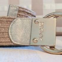 Donna Karan Dkny Natural and Gold D-Ring Belt With Stretch  S/m Photo