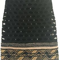 Donna Karan Evening Black Beige Skirt With Sequins /embroidery - Bnwt- Rrp 2295 Photo