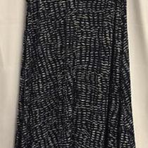 Donna Karan Gown Sleepwear Size 1x Navy and White Sleeveless Long Nightgown Photo