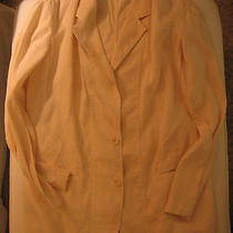 Donna Karan Jacket Linen Sz 14 Gorgeous Ivory Summer Jacket  Photo