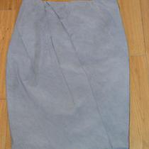 Donna Karan Mineral Grey Quartz Crepe Skirt Womens Uk Size 12 / Us 10 Bnwt New Photo