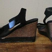 Donna Karan New York Dkny 200 Black Wedge Athletic Inspire Sandals Womens 9  Photo