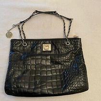 Donna Karan New York Dkny Large Black Genuine Leather Tote Handbag Purse Photo