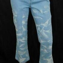 Donna Karan New York Nwt Blue Bleached Ankle Length Bootcut Jeans Sz 28 105 Photo