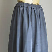 Donna Karen Pure Dkny Pure 100% Silk Steel Blue Maxi Skirt Ankle Length Small Photo