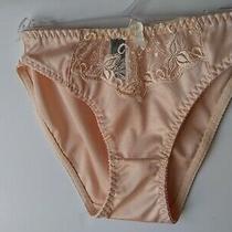 Donna Loren Vintage Bikini Panty Satin Blush Lace Embroidered Sz S Vintage Photo