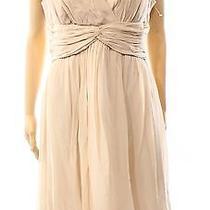 Donna Morgan New Pink Blush Women's Size 10 Empire Waist Silk Dress 166- Deal Photo