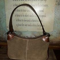Dooney and Bourke All Weather Leather 2 Brown Suede Leather Shoulder Bag Purse Photo