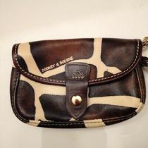 Dooney and Bourke Animal Print Brown and White Wristlet Photo