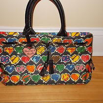 Dooney and Bourke Black Multicolored Heart Bag  Photo