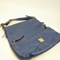 Dooney and Bourke Blue Leather Hobo Tote Bag  Photo
