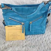 Dooney and Bourke Brand New Nile Croc Turquoise Handbag Photo
