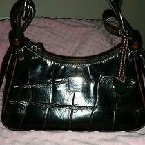 Dooney and Bourke Brown Croc Embossed Leather Small Hobo Photo