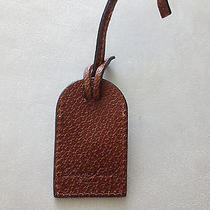 Dooney and Bourke Brown Leather Luggage  /purse Tag /charm New  Photo