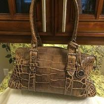 Dooney and Bourke Brown Mock Croc Satchel Photo