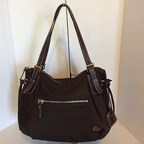 Dooney and Bourke Brown Nylon Nina With Brown Leather Photo
