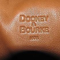 Dooney and Bourke Brown Pebble Leather Bucket Hobo Handbag in Good Condition Photo