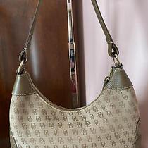 Dooney and Bourke Canvas/ Leather Medium  Satchel Hobo Bag Purse Handbag  Accs Photo