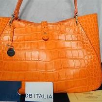 Dooney and Bourke Croco Camilla Bag in Orange Mb41c Photo