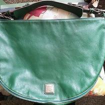 Dooney and Bourke Green Calf Luna Leather Handbag Authentic Photo