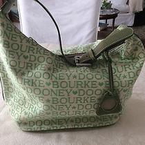 Dooney and Bourke Green Logo Shoulder Bag Hobo Purse Photo