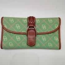 Dooney and Bourke Green Signature Db Checkbook Wallet Photo