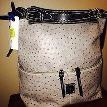Dooney and Bourke Handbag Gray Ostrich Photo