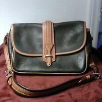 Dooney and Bourke Handbag Vintage All Weather Leather Brown Shoulderbag Classic Photo