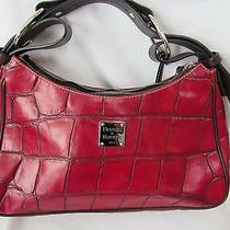 Dooney and Bourke Hobo Red Purse New With Tag  Photo