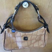Dooney and Bourke Hobo Yellow/brown Purse Pre-Owned Gently Used Photo