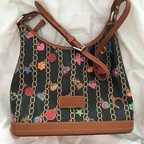 Dooney and Bourke Large Hobo Charm Bracelet Bag Handbag Purse Navy New Usa Made Photo