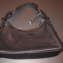 Dooney and Bourke Large Hobo Handbag Purse Bag - Black Leather - Excellent Photo