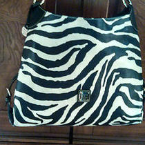 Dooney and Bourke Large Zebra Hobo Bag Free Exp. Shipping Photo