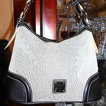 Dooney and Bourke Leather and Treated Fabric Gorgeous Hobo/shoulderbag Photo