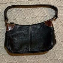 Dooney and Bourke Leather Handbag Small Shoulder Bag Black Brown Photo