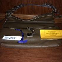 Dooney and Bourke Medium Pocket Sac Hobo in Brown Calf Leather  Photo